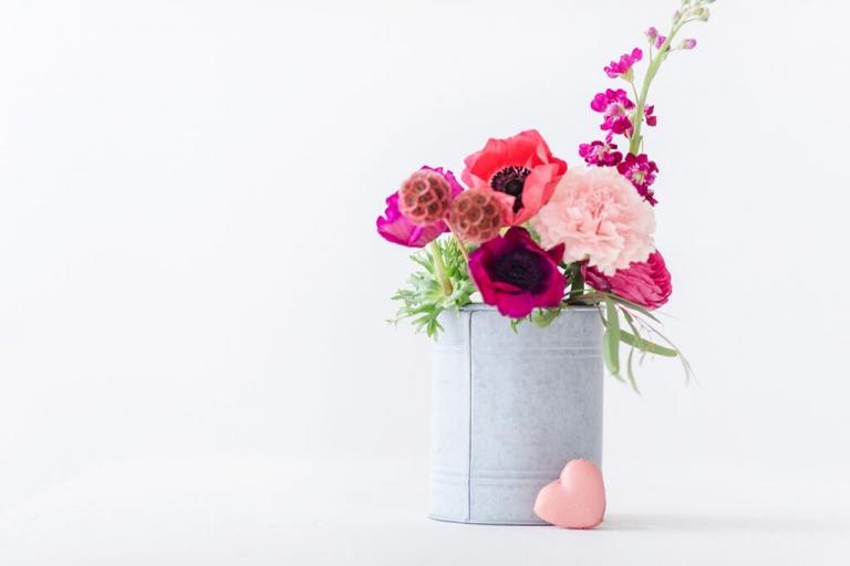 Valentinstag Stillife mit Blumen